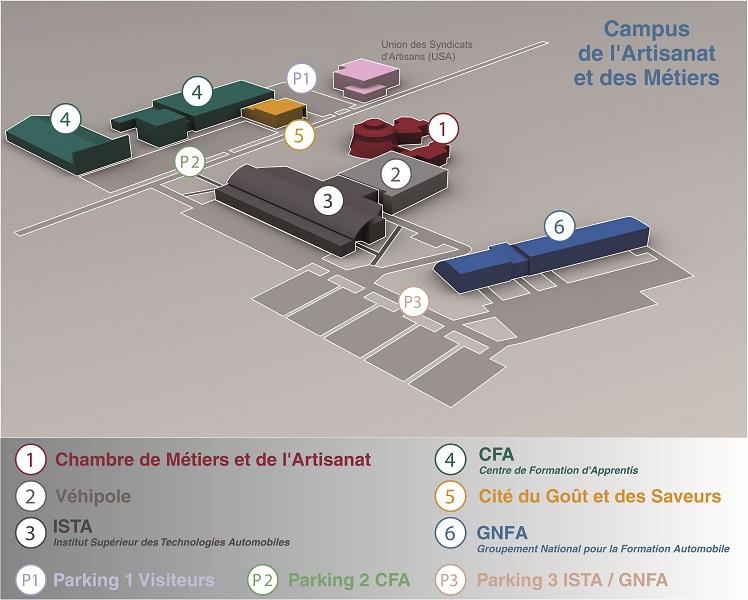 Plan du CFA de Ploufragan