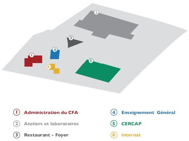 Plan du CFA de Dinan
